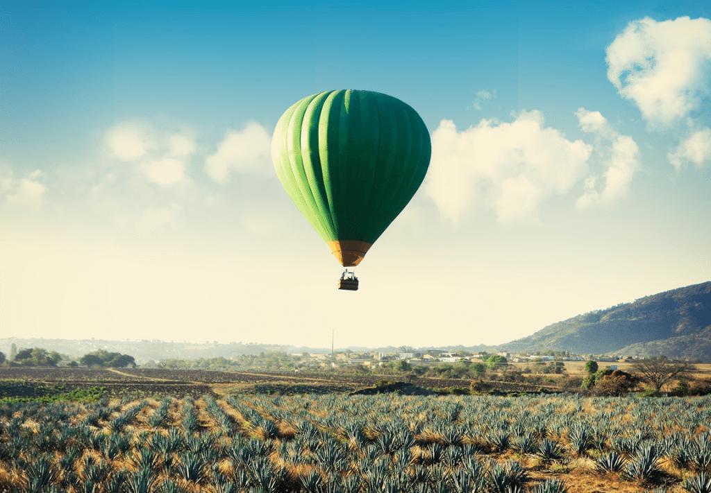 vuelo en globo aerostático en Amatitán Jalisco