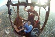 Entrega de anillo en globo aerostatico