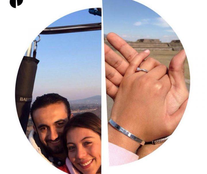 Vuelos de entrega de anillo en globo aerostatico