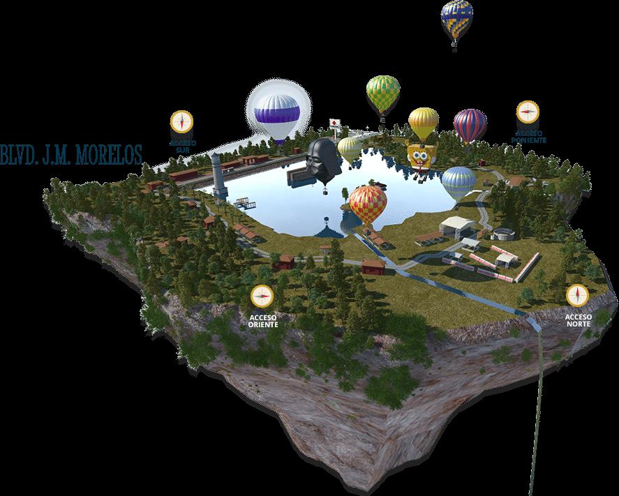 mapa de el festival internacional del globo 2015