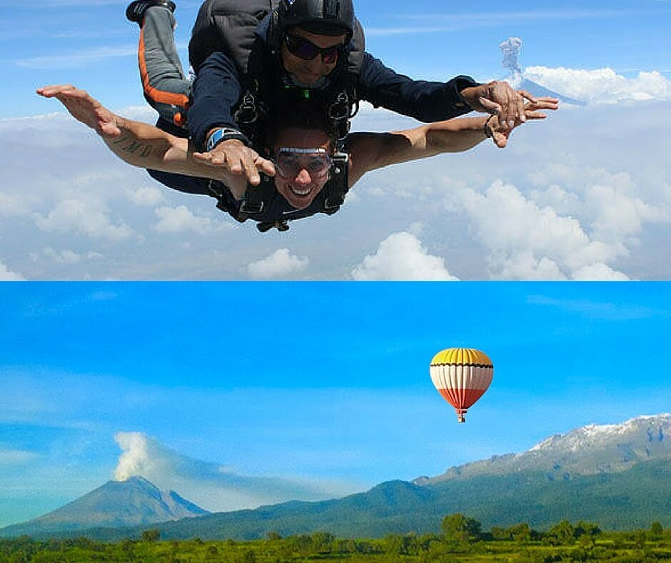 salto en paracaidas en puebla globos aerostáticos