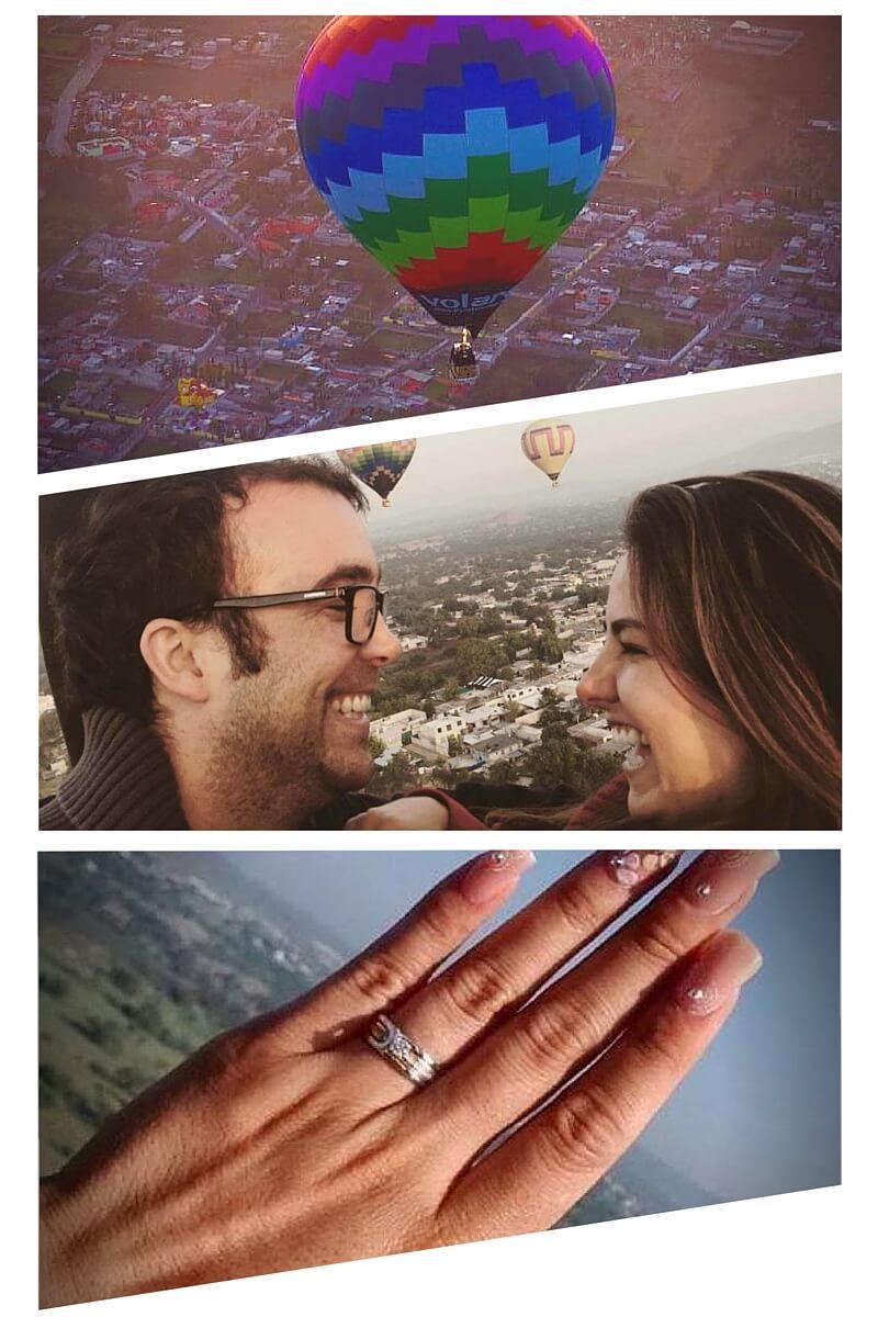 comprar entregas de anillo en globo aerostático a buen precio