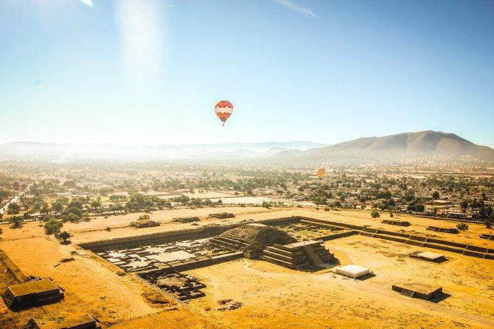 paseos en globo aerostático en Teotihuacán
