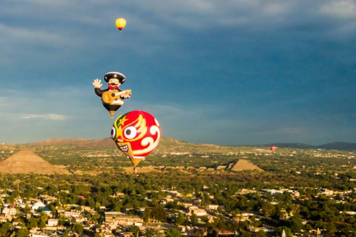 paseos en globo piramides de teotihuacan
