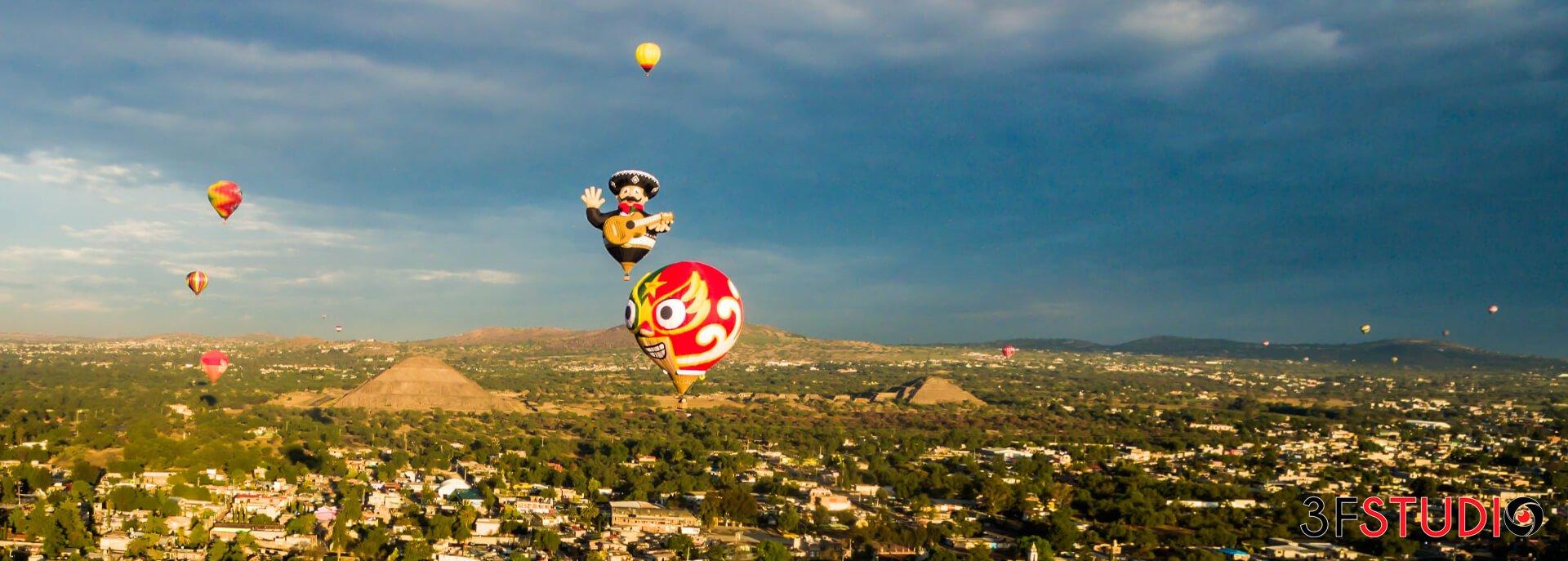 Vuelo en Globo Tradicional en Teotihuacán
