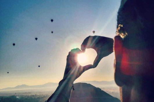 teotihuacán vuelo en globo al amanecer