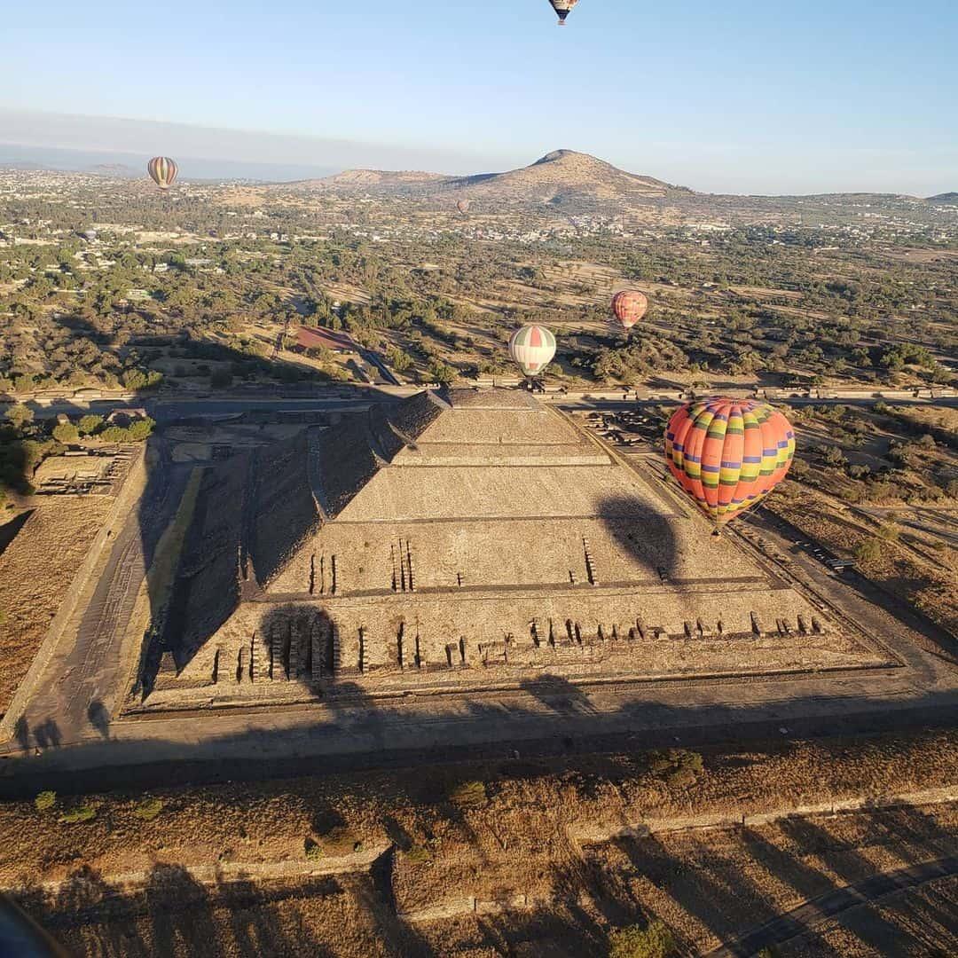 viajes en globo en teotihuacan con hospedaje incluido