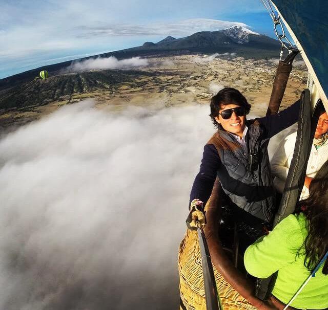 volar en globo hacienda soltepec