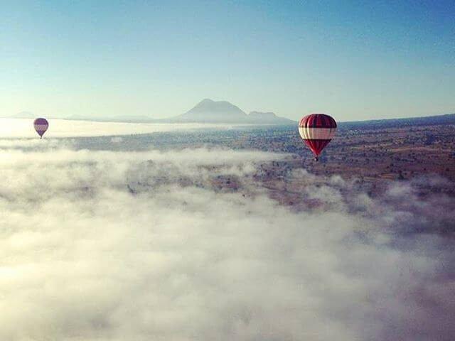 volar en huamantla globos