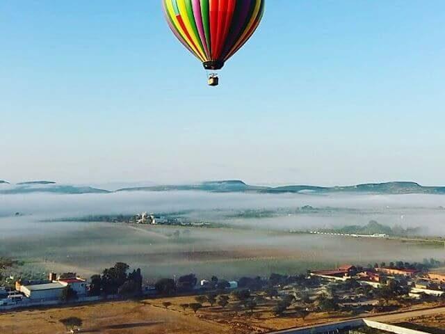 vuelo en globo en tequisquiapan
