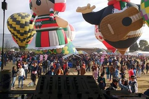 encuentro nacional de globos aerostáticos en teotihuacan 2017