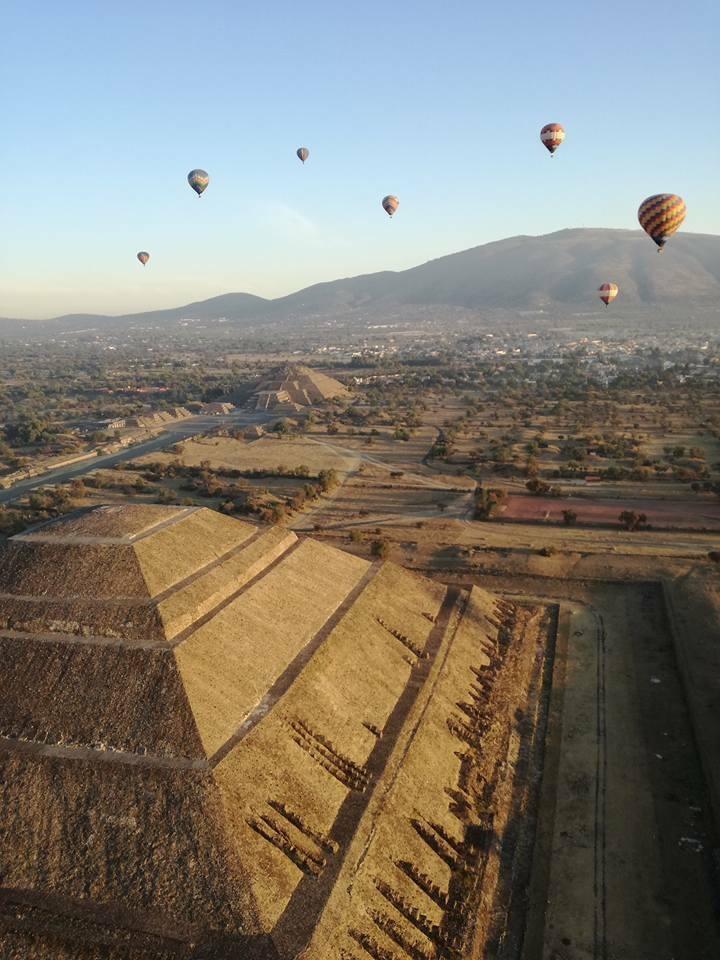 vuelo en globo aerostático en Teotihuacán precios