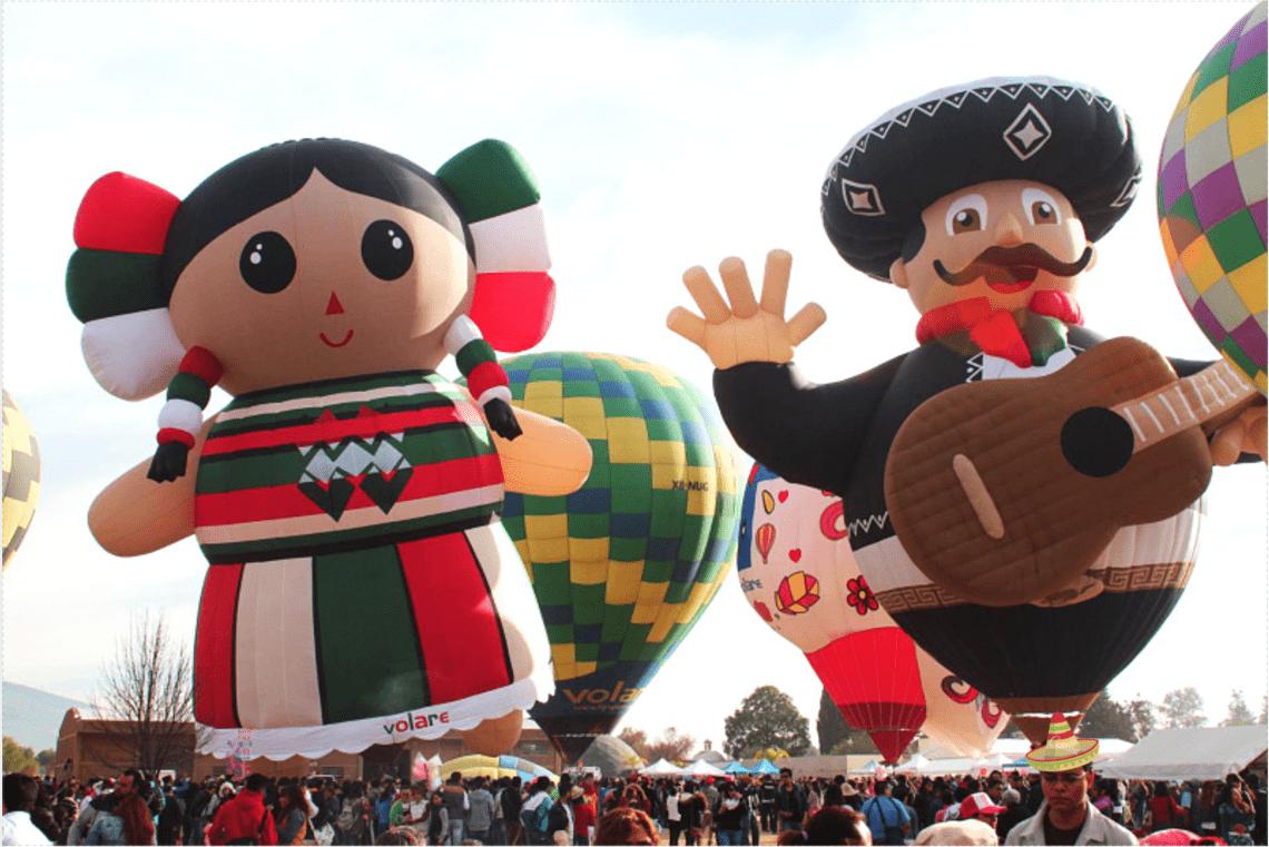 festival de vuelos en globo - México 2018