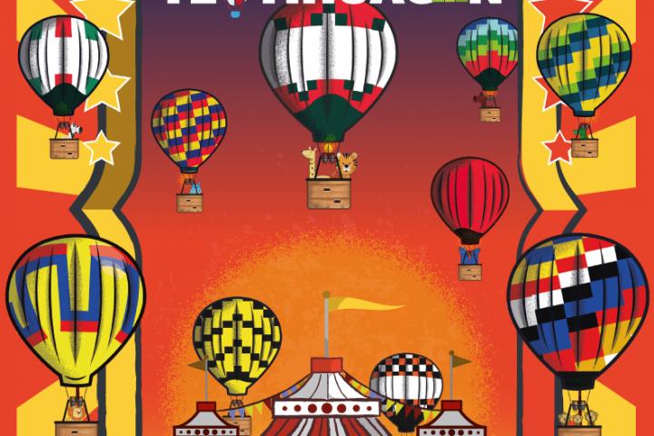encuentro nacional del globos aerostáticos en Teotihuacán 2018
