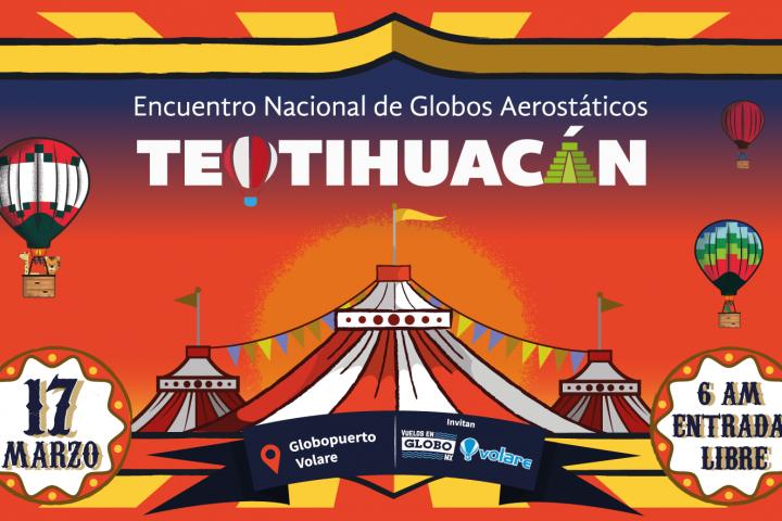 festival de globos aerostáticos en Teotihuacán 2018