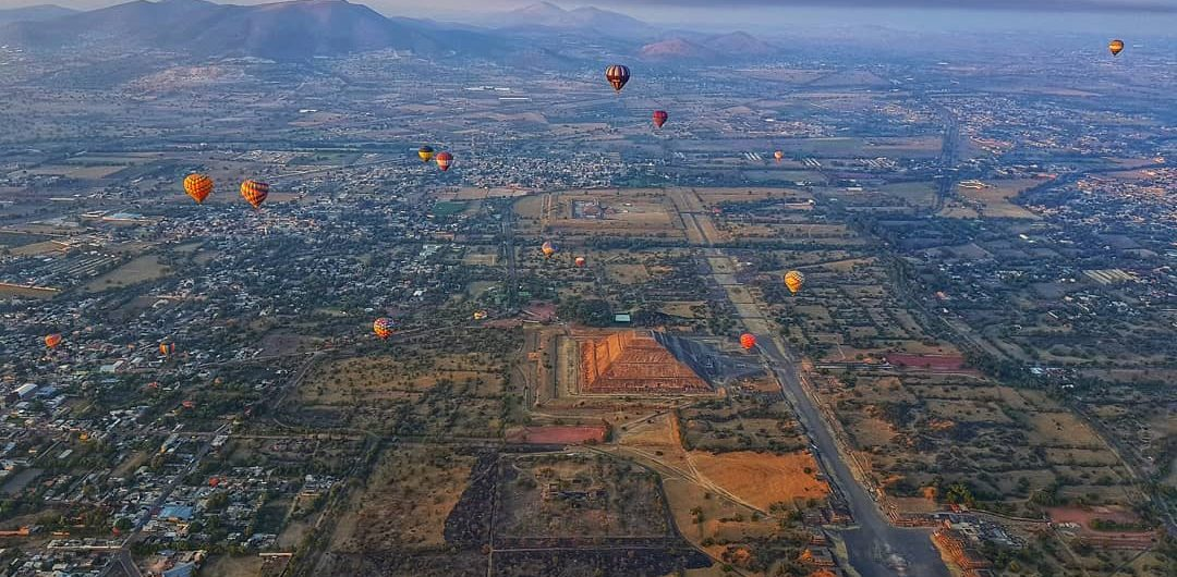 globos aerostáticos en Teotihuacán precios para subirse