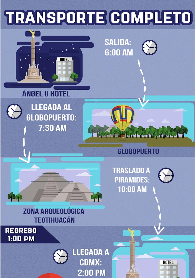 TOURS A TEOTIHUACÁN DESDE EL DF - GLOBOS AEROSTÁTICOS TEOTIHUACÁN