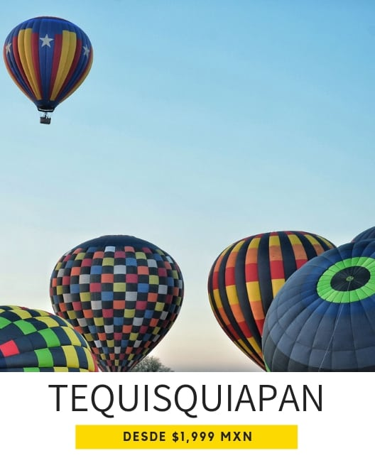 paseo en globo en Tequisquiapan Querétaro