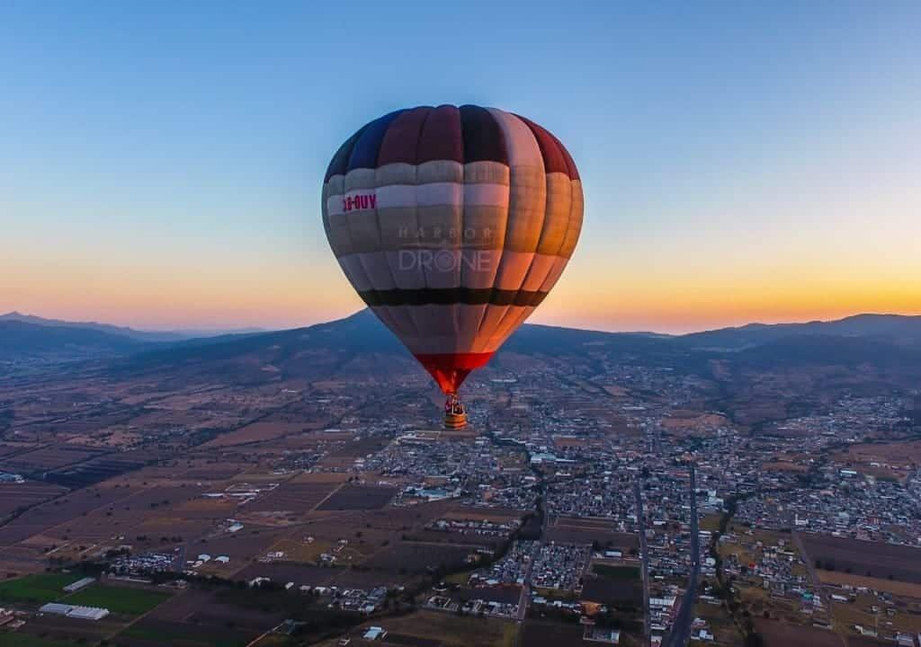 tlaxco tlaxcala , vuelo en globo aerostático