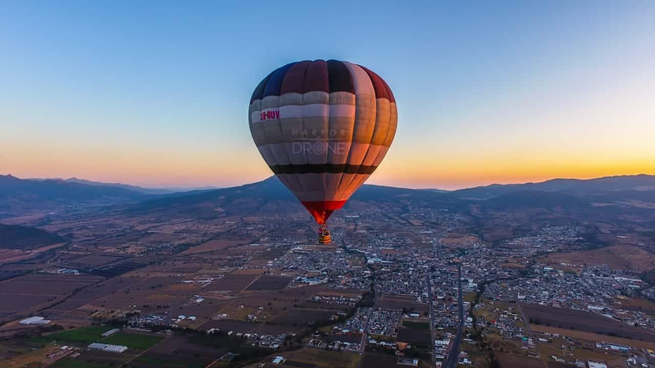 viaje en globo aerostático en tlaxco
