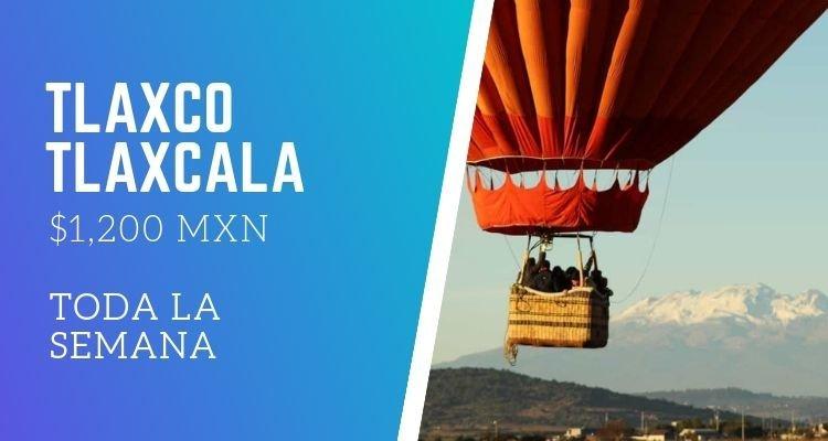 viaje en globo de promoción en Tlaxco Tlaxcala