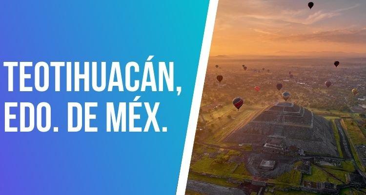 viajes en globo aerostático en Teotihuacán