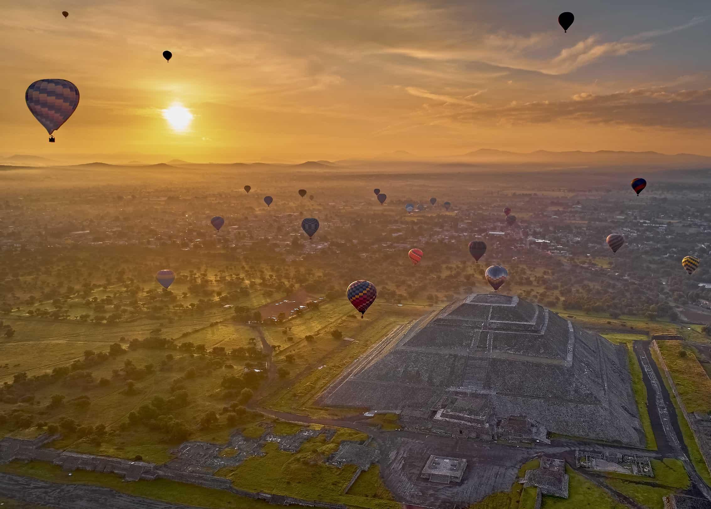 Vuelo en globo Tradicional sobre Teotihuacán