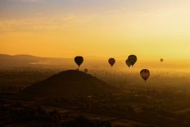 vuelo en globo amanecer pirámides de Teotihuacán