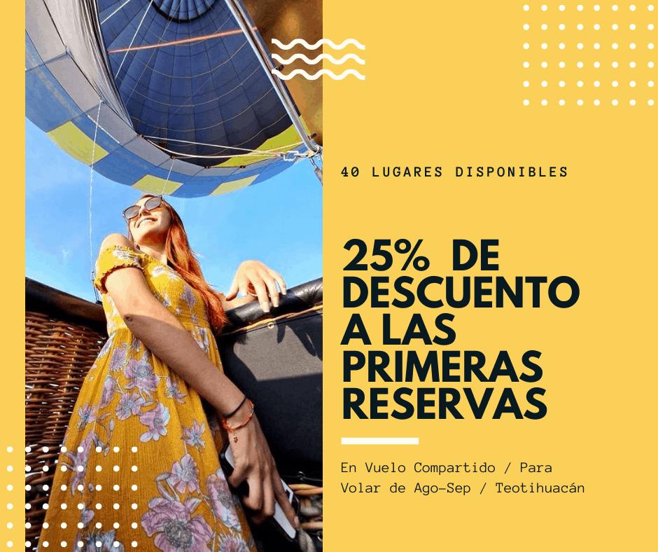 vuelo en globo teotihuacán oferta agosto 2020