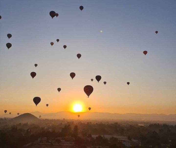 paseo en globo teotihuacan al amanecer
