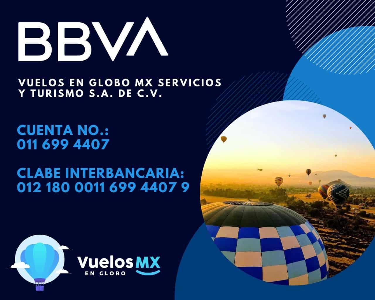 vuelos en globo mx cuenta BBVA.